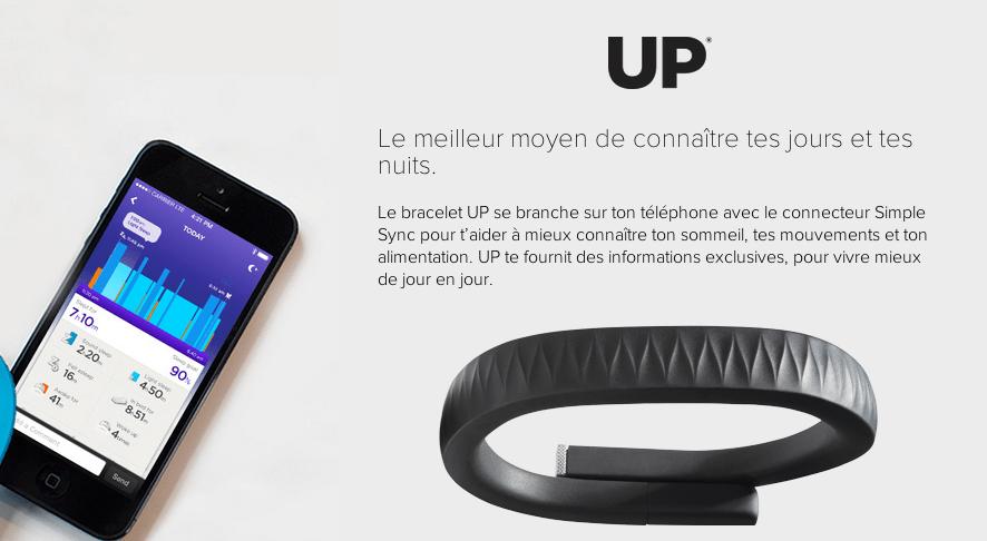 Jawbone UP : l'un des premiers bracelets connectés [test]