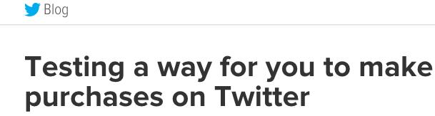Twitter va lancer un bouton de paiement [amazonStyle]