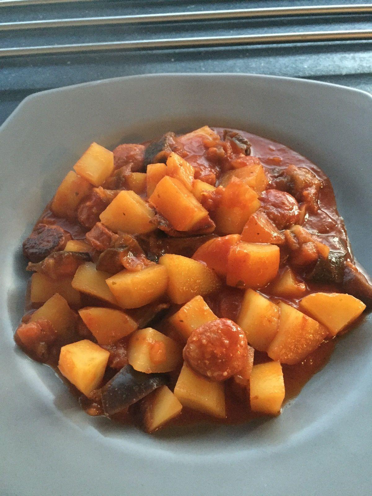 pommes de terre au chorizo au cookeo