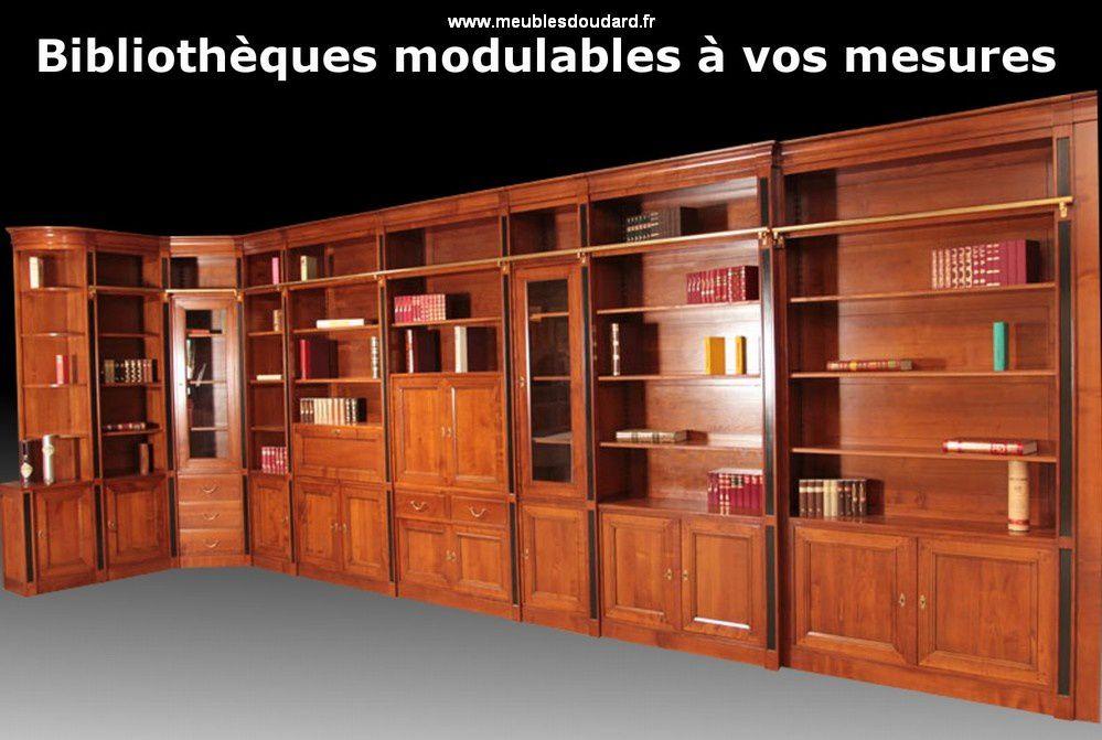 Bibliothque En Bois Massif Sur Mesure Meublesdoudard