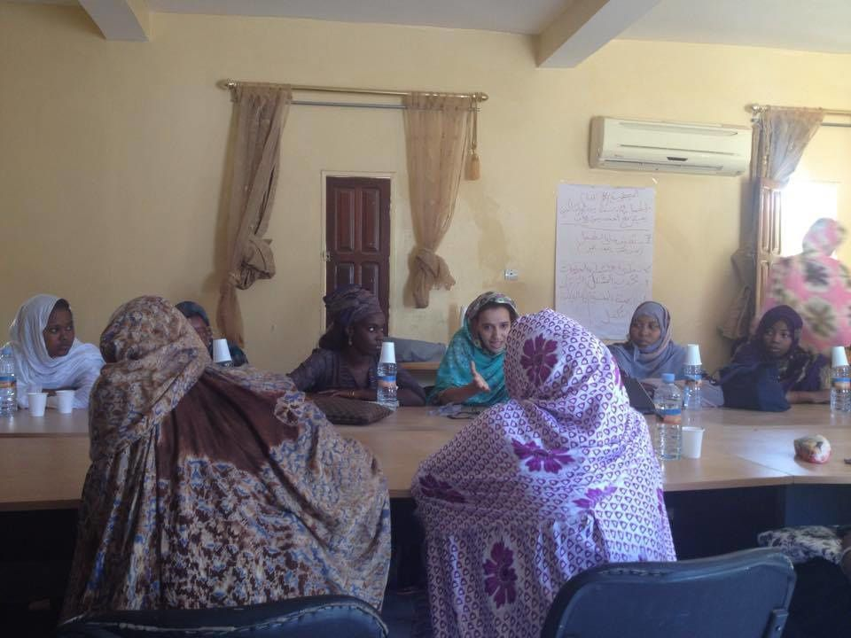 Séance « Voix des femmes » du 1er novembre 2015 dans la commune de Riyad – Thème : l'accès des femmes aux métiers.