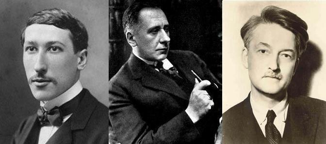 Table ronde (1924) - René Guénon, Ferdinand Ossendowski et Jacques Maritain.