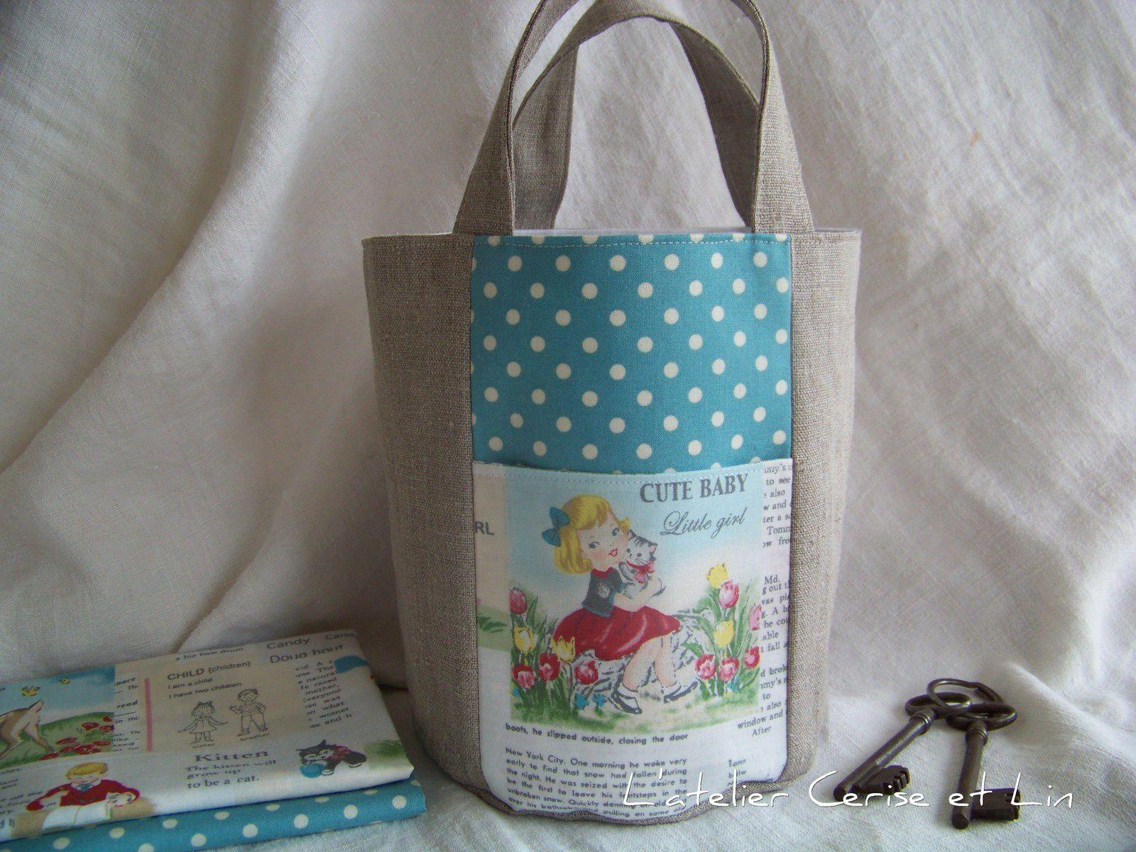 sacs ronds esprit vintage l atelier cerise et lin