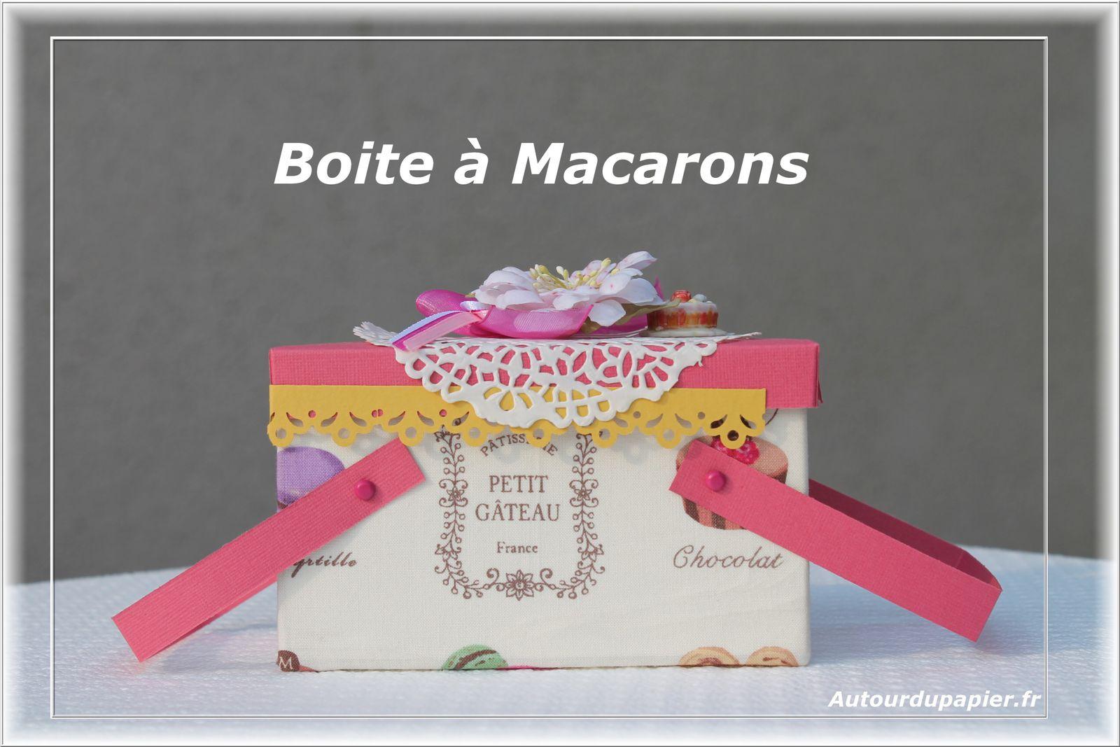 "Papier bazzill Flamingo, Tissu ""Macarons"", napperon en papier, Fleur Prima, Noeud en tissu, attaches parisiennes"