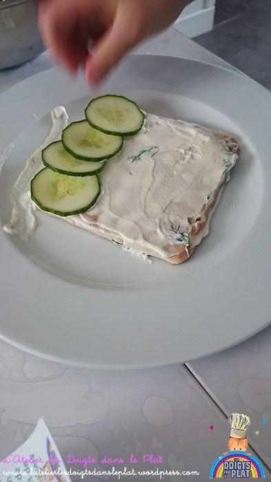 Montage du sandwich cake
