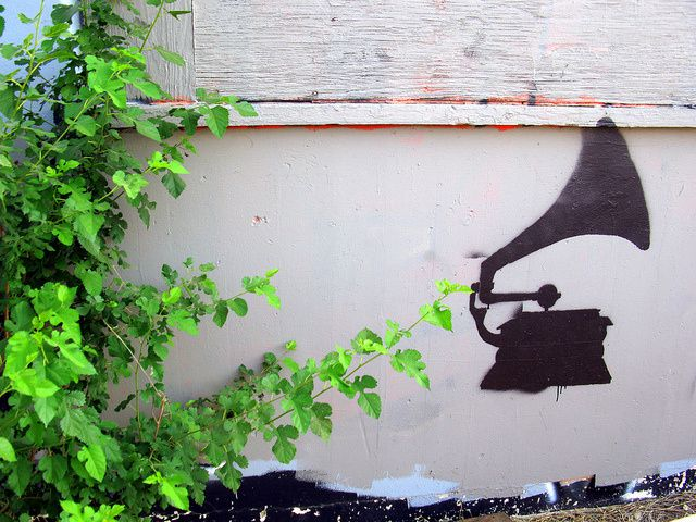 Wall with Phonograph