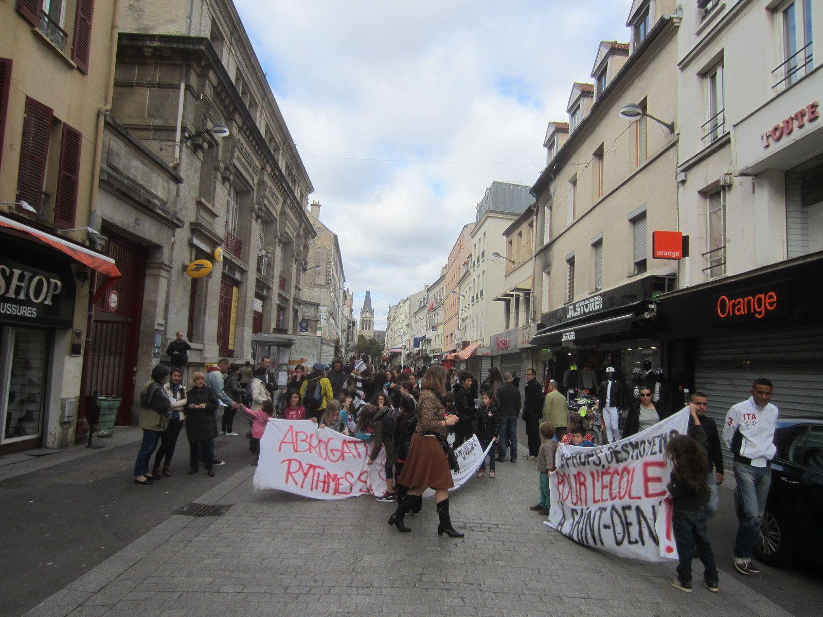 [Photos] La mobilisation prend de l'ampleur dans les écoles de Saint-Denis, RDV le 6 novembre !