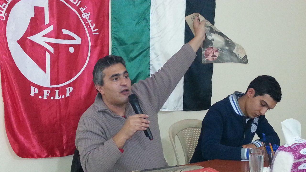 Khaled Barakat, coordinateur de la Campagne pour la Libération d'Ahmad Saadat.