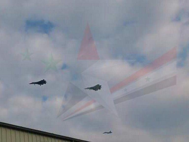 via Twitter - Atterrissage des deux Su-57 russes sur la base aérienne de Lattaquié.