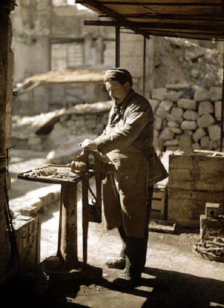 Scènes de vie à Reims en 1917 - Autochromes