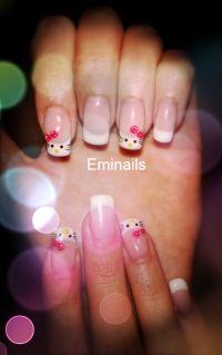 nail art hello kitty 3D - Eminails Art