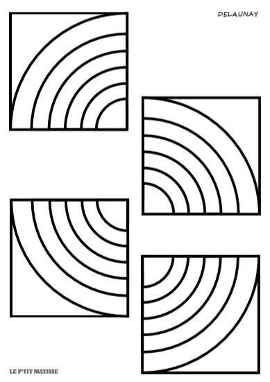 Coloriages à la manière des...DELAUNAY (2) - le P'TIT MATISSE
