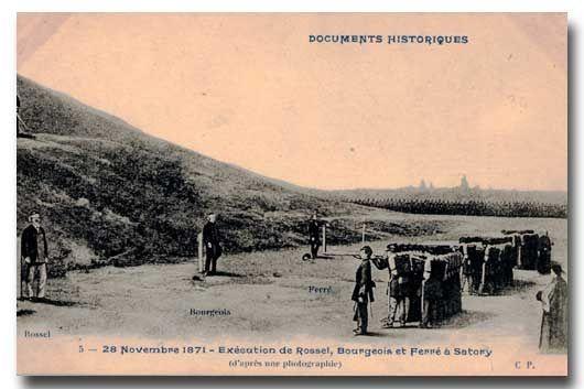Là où il y a 143 ans la bourgeoisie française fusillait les communards,..
