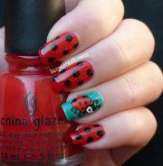 ladybird ladybug manicure
