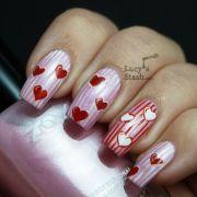 valentine's day manicure feat