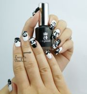 black & white dress inspired nail