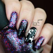 halloween ghosts & glitter gradient