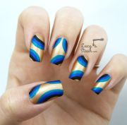 abstract retro nail art with jacava