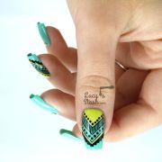 aztec nail art feat. graffiti nails