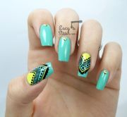 aztec nail art feat. graffiti nails