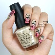 stamped gradient nail art