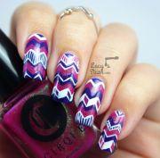 hugs emily chevron nail art