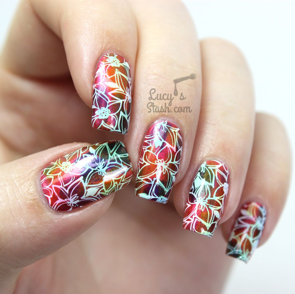 Hawaiian Floral Design & Bundle Monster Polynesia Stamping