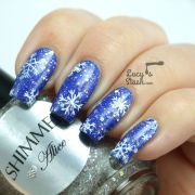 snowflake nail art - lucy's
