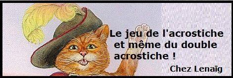 Le jeu des acrostiches, mot pour mercredi 15 mai - Lenaïg