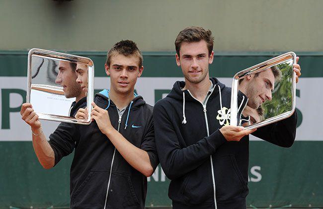 Roland Garros 2014: Benjamin Bonzi et Quentin Halys remportent la finale du  Double Juniors Garçons. - Sports and People News