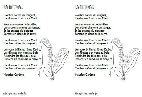 Le muguet  Maurice Carme  CPCE1CE2CM1CM2  Fe des