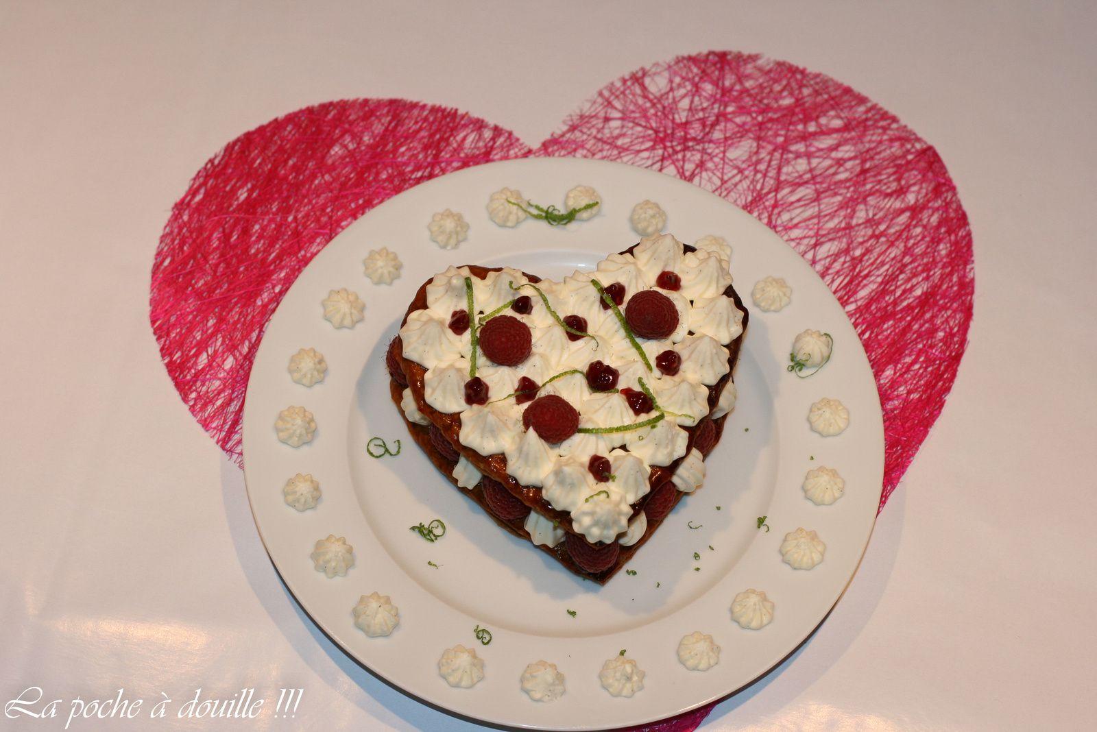 "Millefeuille ""Spéciale St Valentin"""