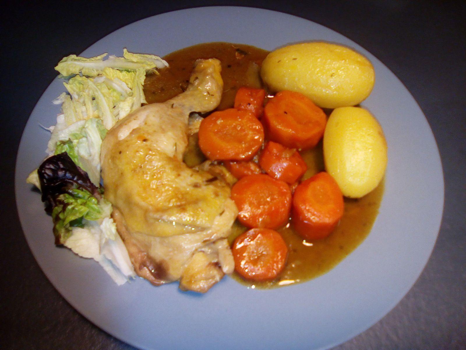 cuisses de poulet carottes et pommes