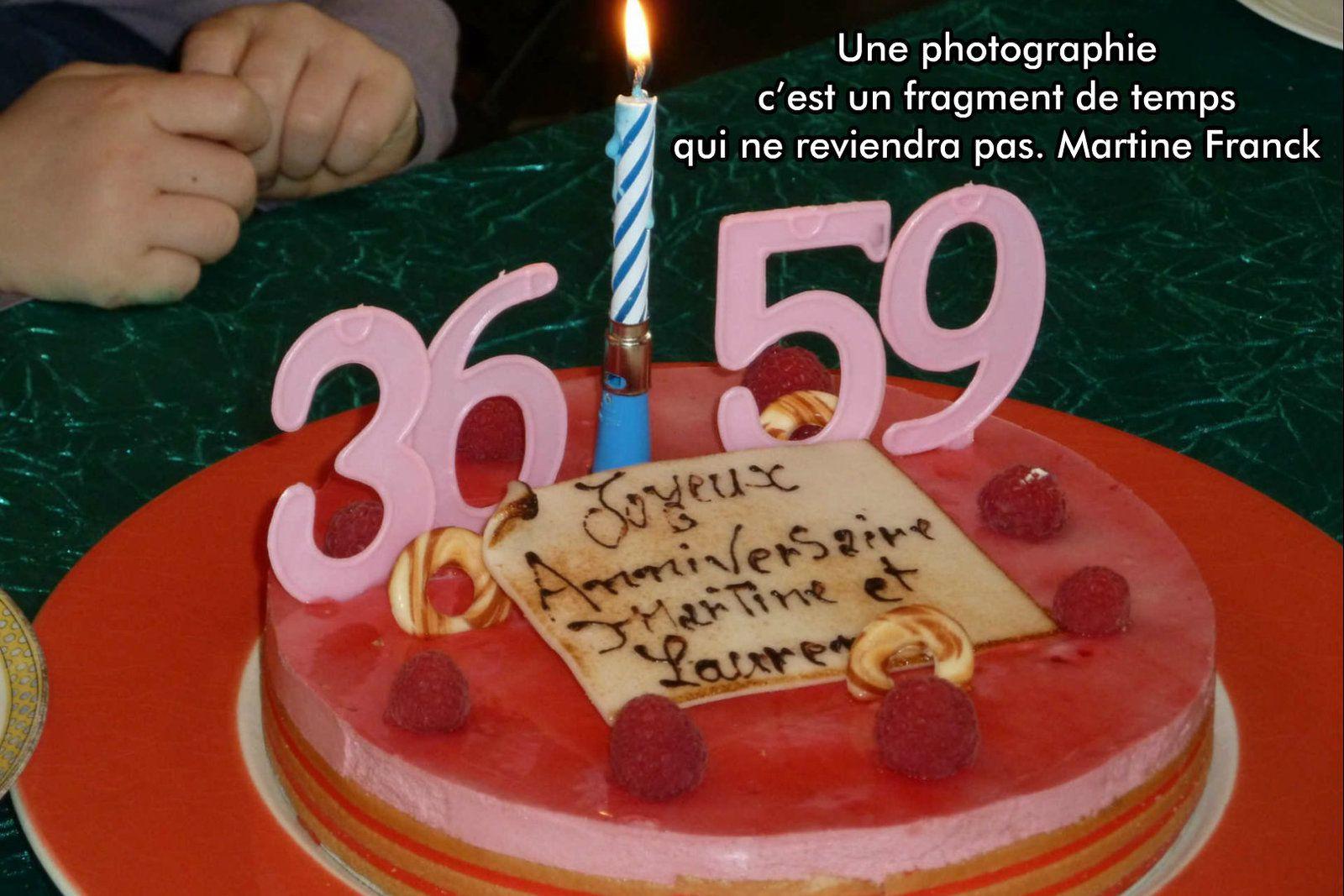 Mon anniversaire et celui de ma fille Laurence en 2012 !