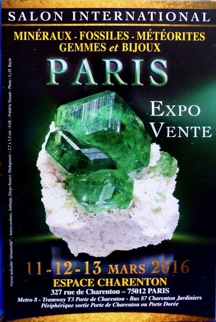 SALON INTERNATIONAL MINERAUX ET FOSSILES PARIS 122017  SUPERBESSE LOCATION VACANCES