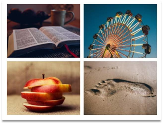 Apparition des photos les plus récentes / Pas de sélection thématique. Risque : Passer beaucoup de temps pour trouver la «bonne» photo