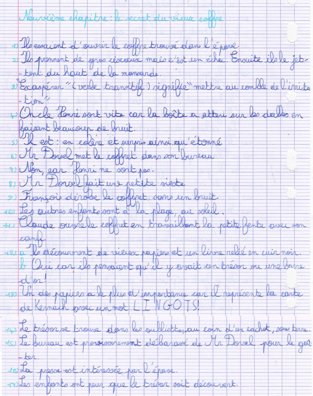 L'ile Au Tresor Questionnaire Reponse : l'ile, tresor, questionnaire, reponse, Jeudi, Ecole, Maison