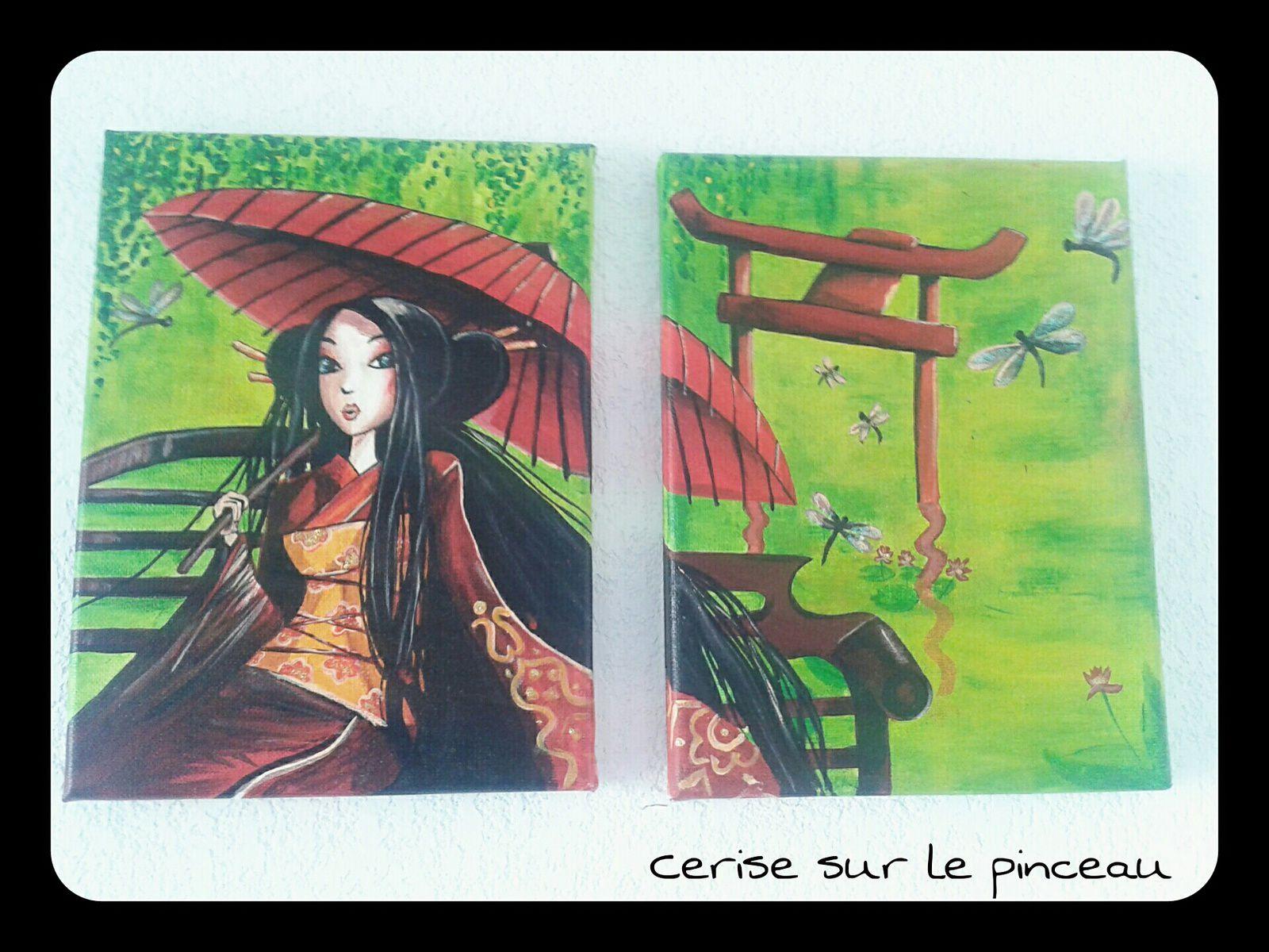 Tableaux Dessins Aquarelles Cerise Sur Le Pinceau