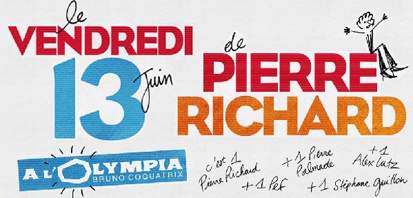Pierre Richard à l'Olympia, entouré de ses amis.