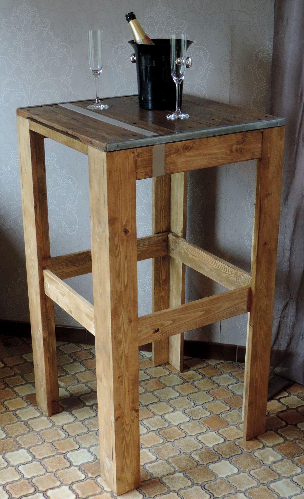 fabriquer table haute cuisine