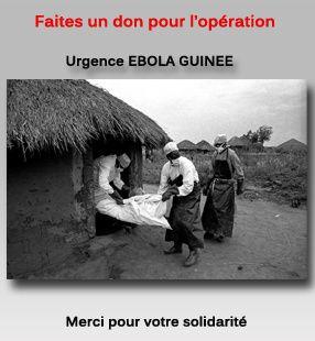 Photo extraite de la page Facebook du Collectif urgence Ebola Guinée
