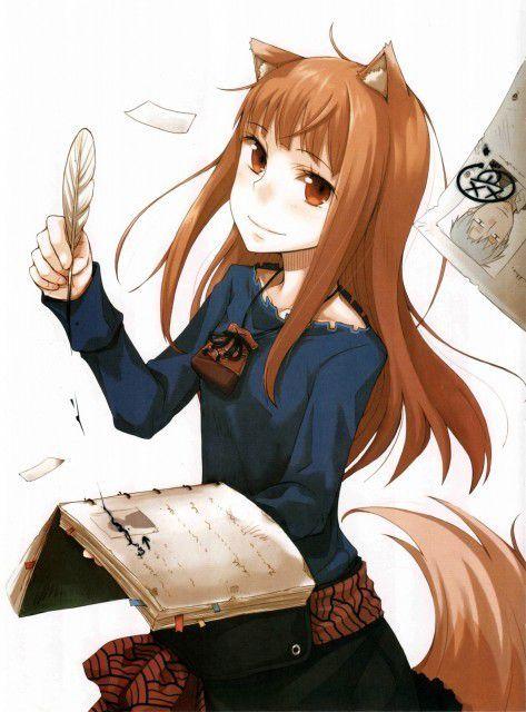 Holo, personnage emblématique de la série Spice&Wolf et de la culture otaku
