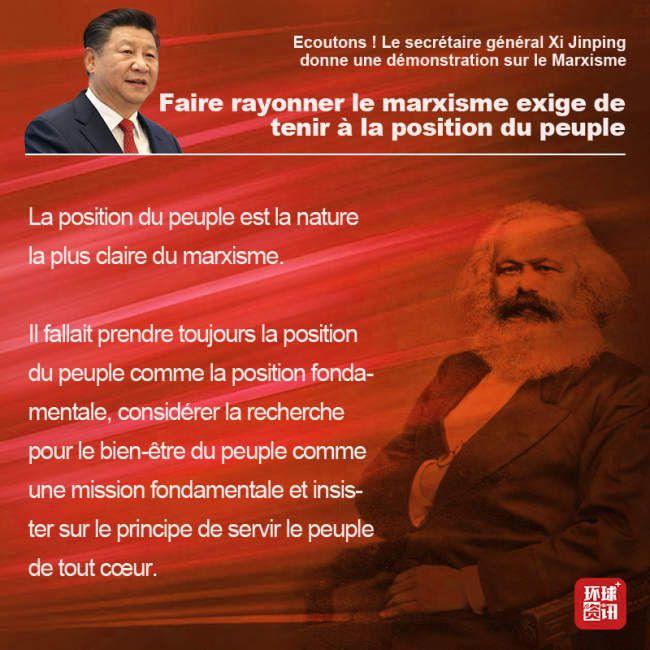 Le Secrétaire général Xi Jinping donne une démonstration sur le Marxisme
