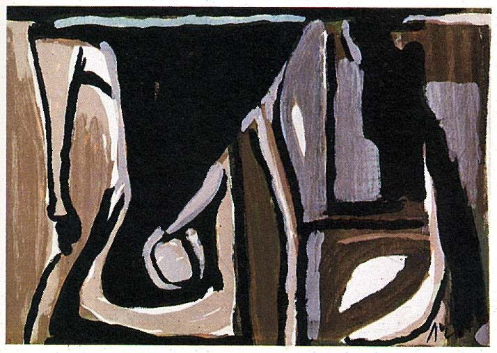Bram Van Velde, Nocturne, 1981 - source : wikiart.org -