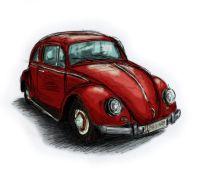 Coloriage Coccinelle Volkswagen.Coloriage Choupette La Coccinelle Volkswagen Beetle