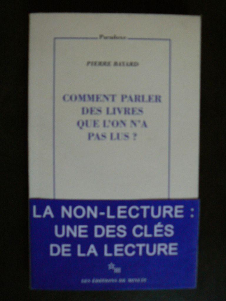 Comment Parler Des Livres Que L'on N'a Pas Lus : comment, parler, livres, Comment, Parler, Livres, Bibliothèque, Ligne, Livres)