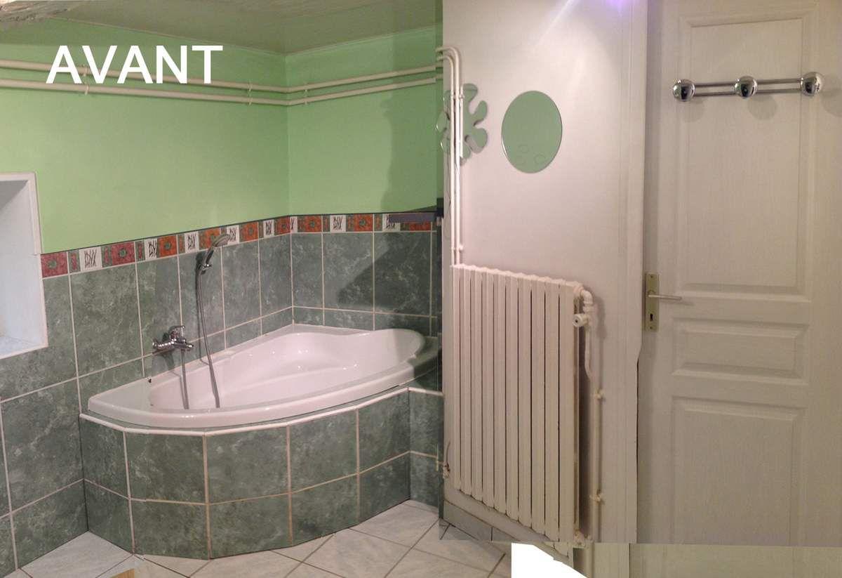 la salle de bain avant travaux
