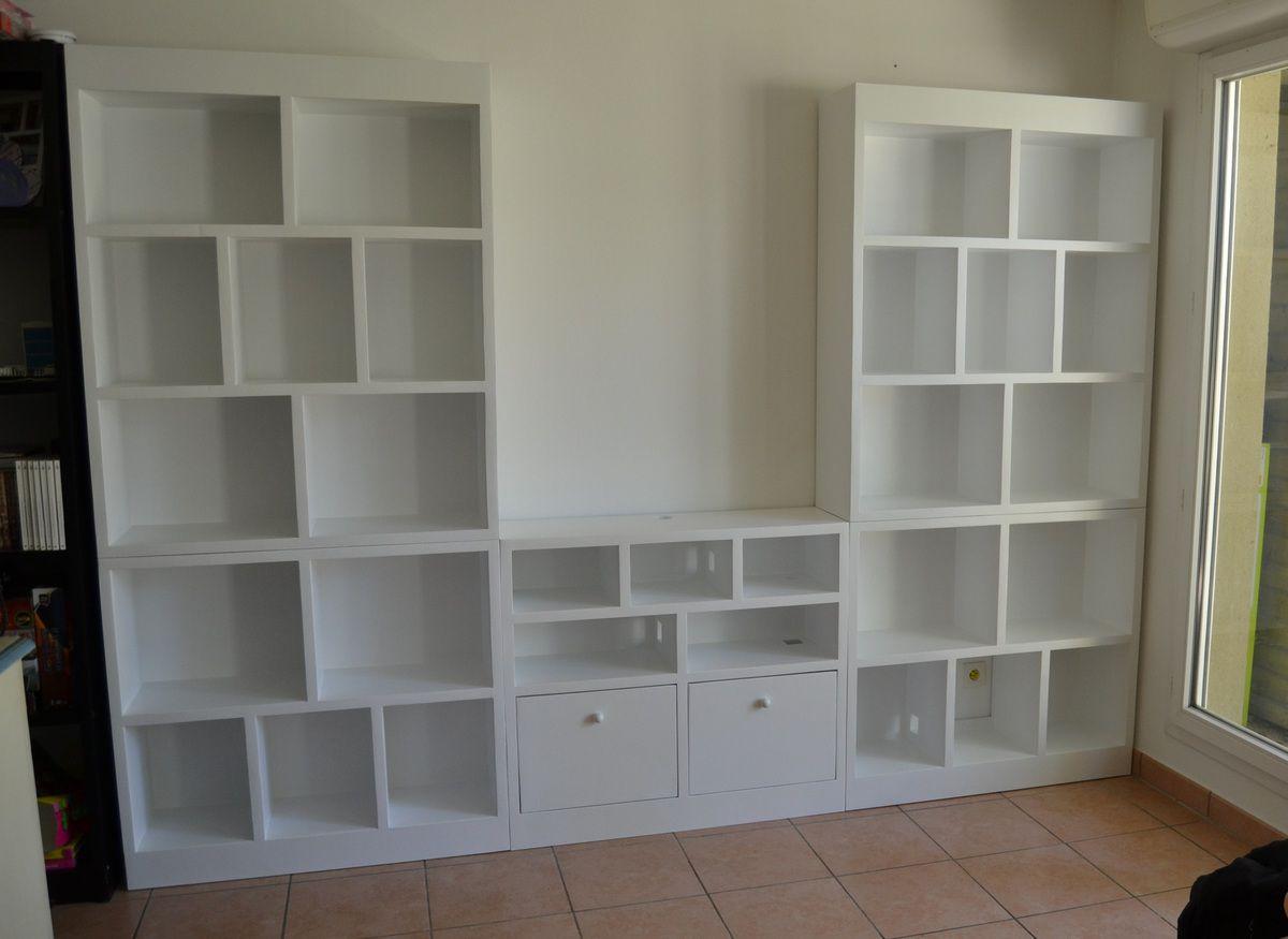 meuble tv bibliotheque meubles en carton