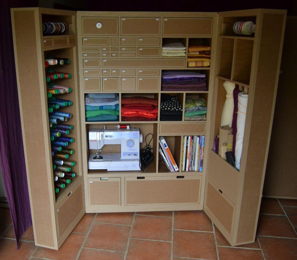 armoires atelier meubles en carton