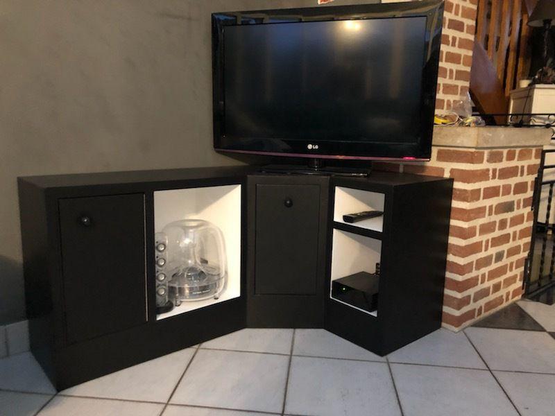 meuble tv angle meubles en carton